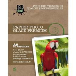 image produit InkStock Papier Photo Glacé Premium 10x15 20f. 210Gr Cybertek