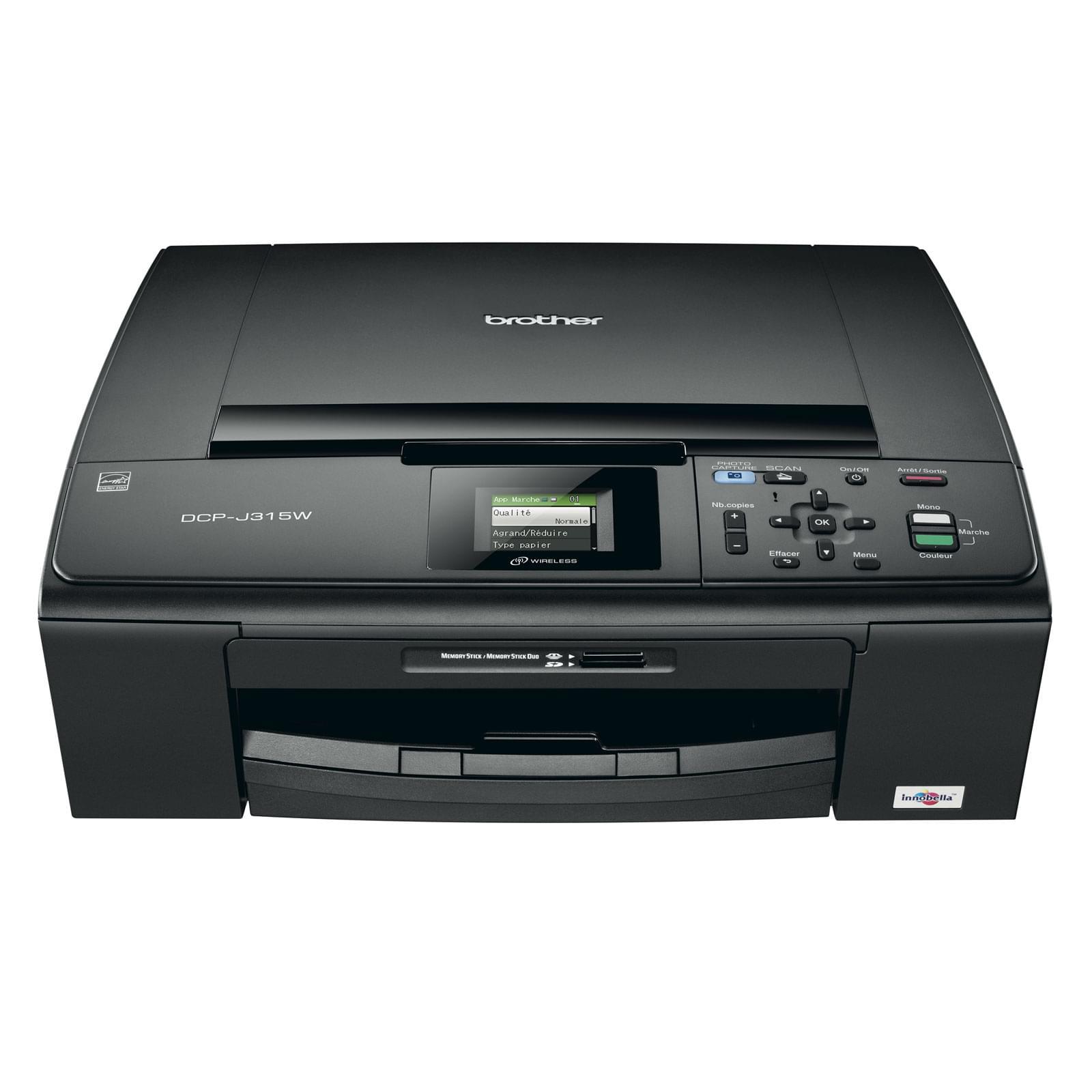 Brother DCP-J315W (DCP-J315W) - Achat / Vente Imprimante multifonction sur Cybertek.fr - 0