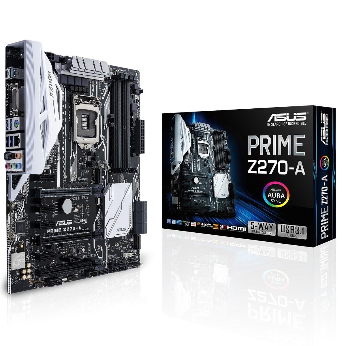 Asus PRIME Z270-A ATX DDR4 - Carte mère Asus - Cybertek.fr - 0