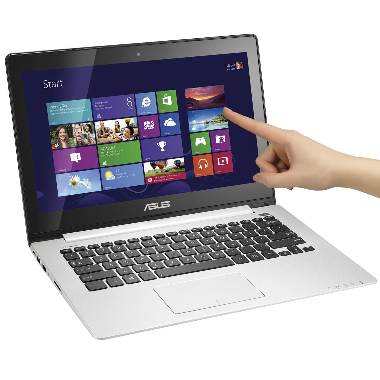 Asus S300CA-C1005H (S300CA-C1005H) - Achat / Vente PC portable sur Cybertek.fr - 0