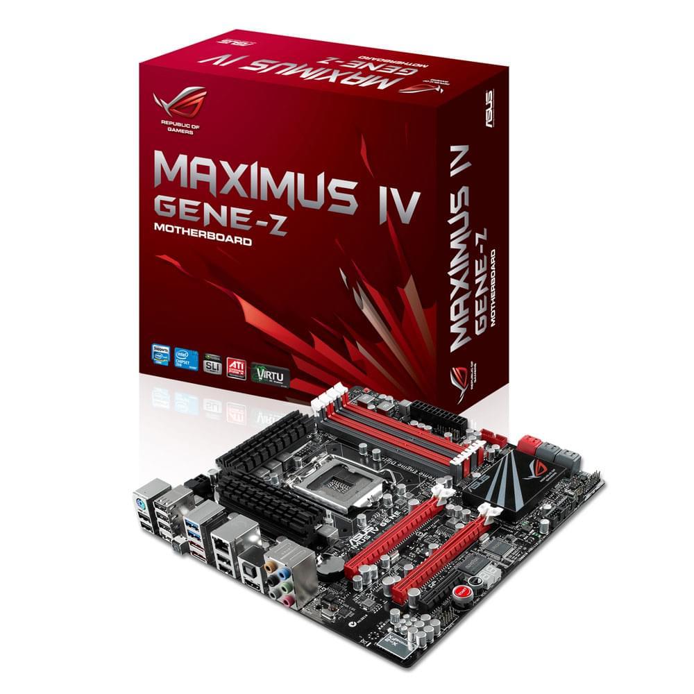 Asus Maximus IV Gene (90-MIBG20-G0EAY00Z) - Achat / Vente Carte Mère sur Cybertek.fr - 0