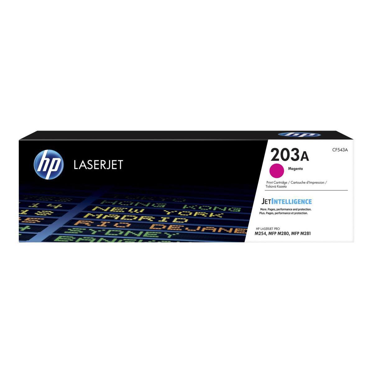 Toner Magenta 203A 1300 pages - CF543A pour imprimante  HP - 0