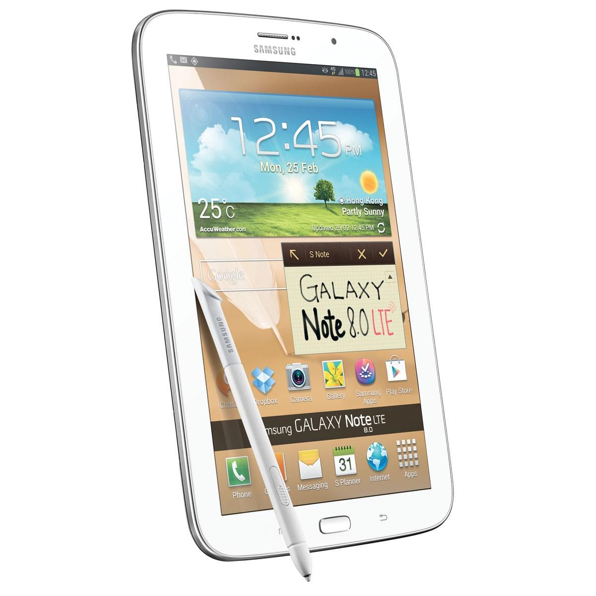"""Samsung Galaxy Note 8 N5120ZWAXEF -Blanc/16Go/8""""/4G/ICS (GT-N5120ZWAXEF) - Achat / Vente Tablette Tactile sur Cybertek.fr - 0"""
