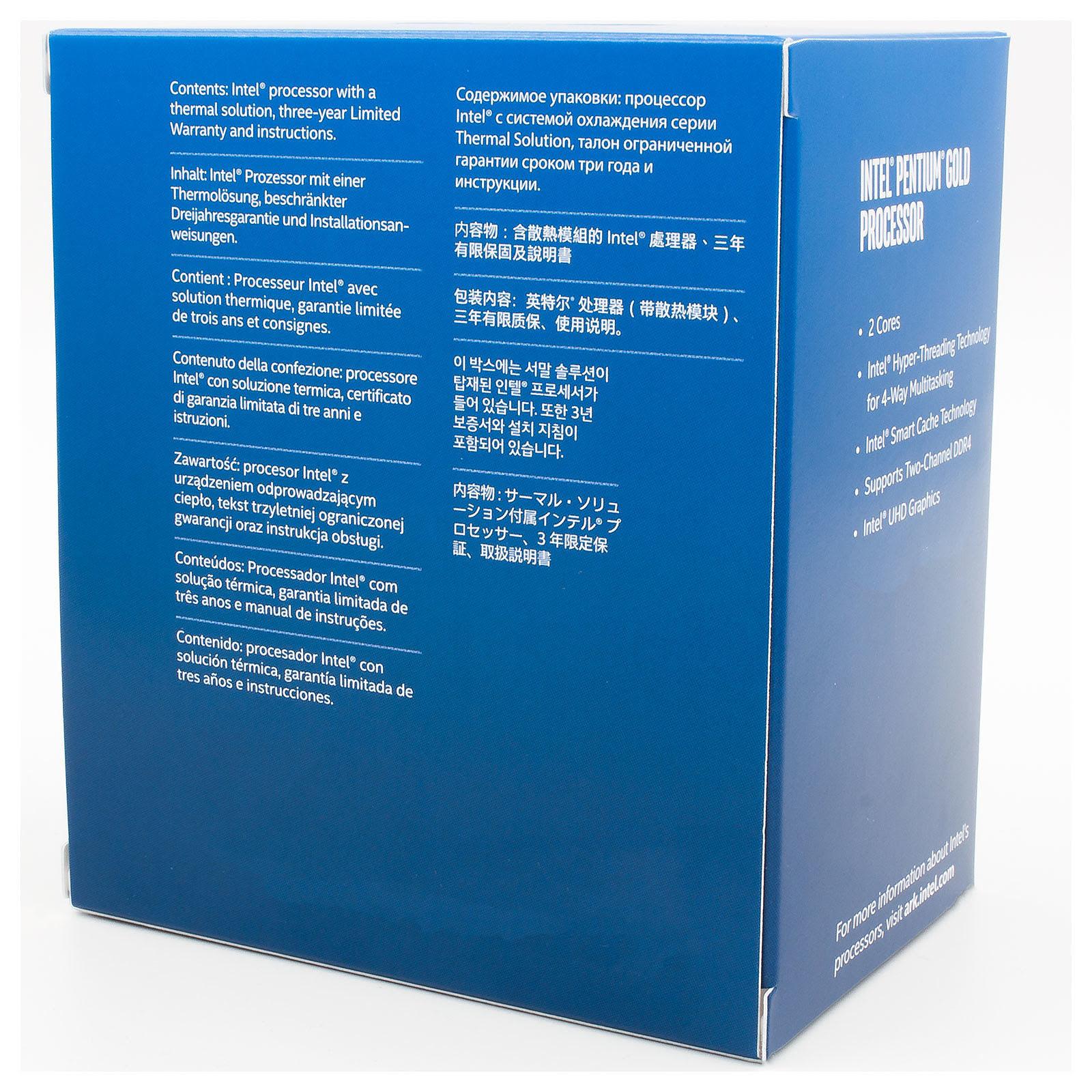 Intel Pentium Gold G6500 - 4.1GHz - Processeur Intel - Cybertek.fr - 1