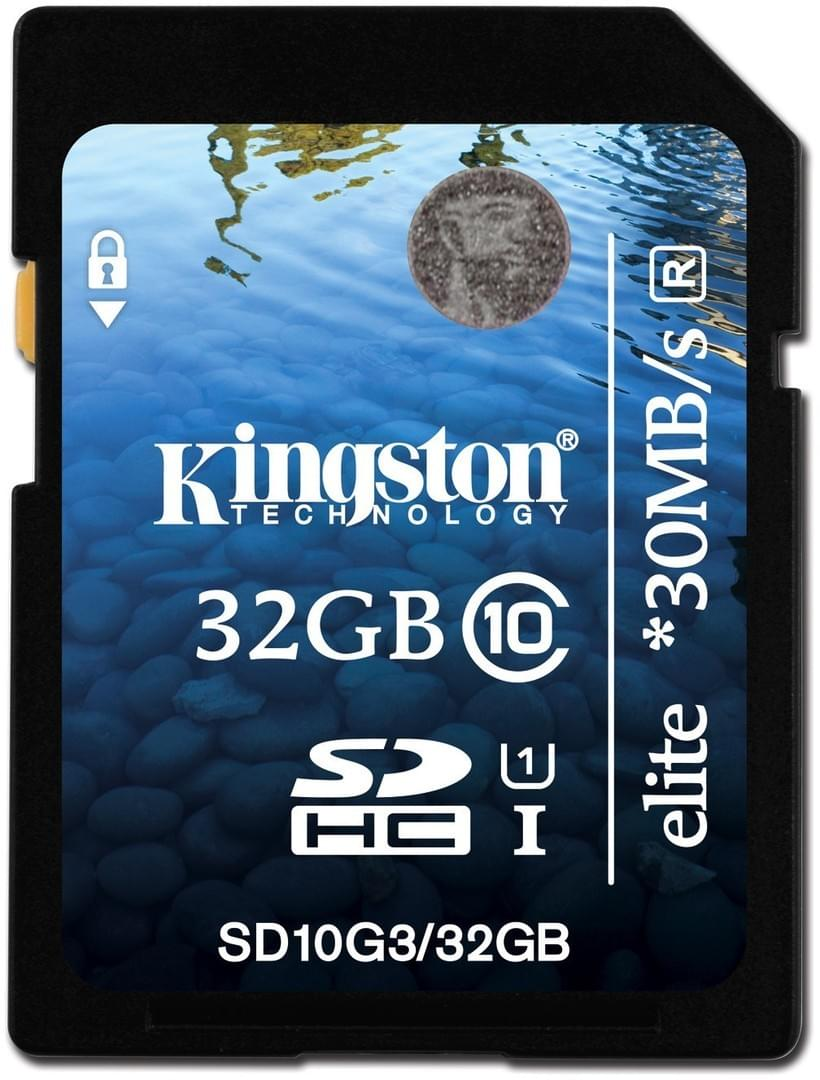 Kingston SDHC 32Go SDHC-Card Class 10 - Carte mémoire Kingston - 0