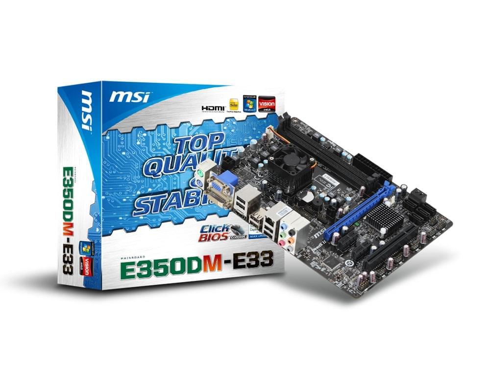 Carte mère MSI E350DM-E33 - 0