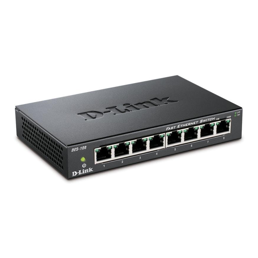 D-Link DES-108 (DES-108) - Achat / Vente Switch sur Cybertek.fr - 2