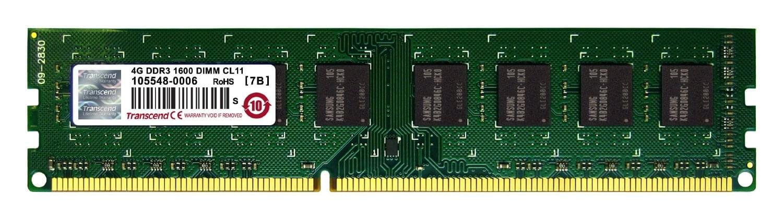 Transcend 4Go DDR3-1600 MHz PC3-12800 TS512MLK64V6N (TS512MLK64V6N) - Achat / Vente Mémoire PC sur Cybertek.fr - 0