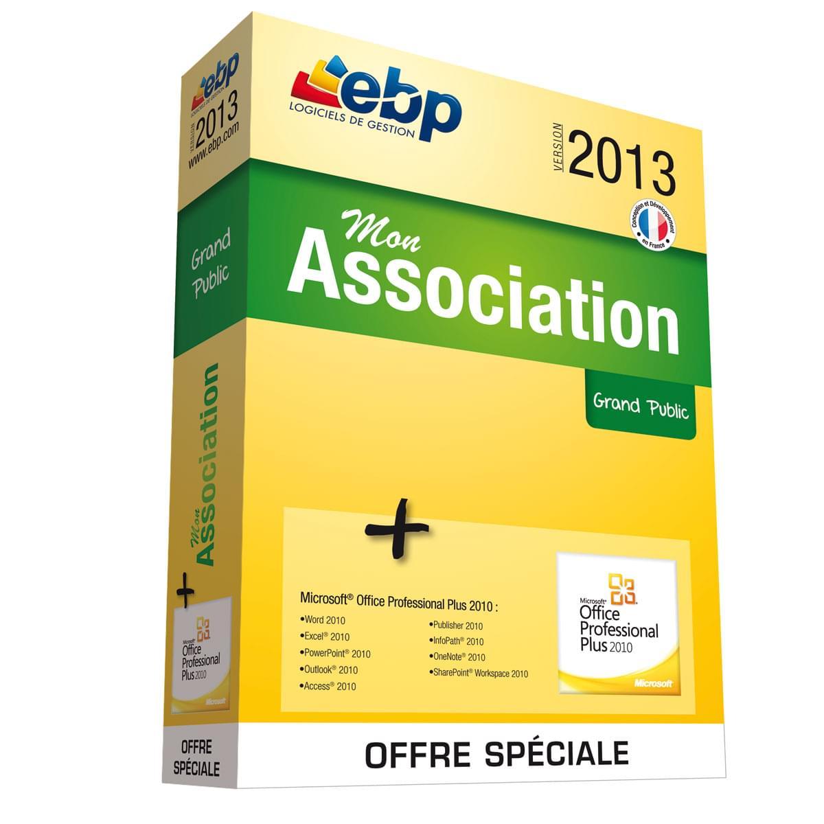 EBP Mon Association 2013 (1049J170FAB) - Achat / Vente Logiciel Application sur Cybertek.fr - 0