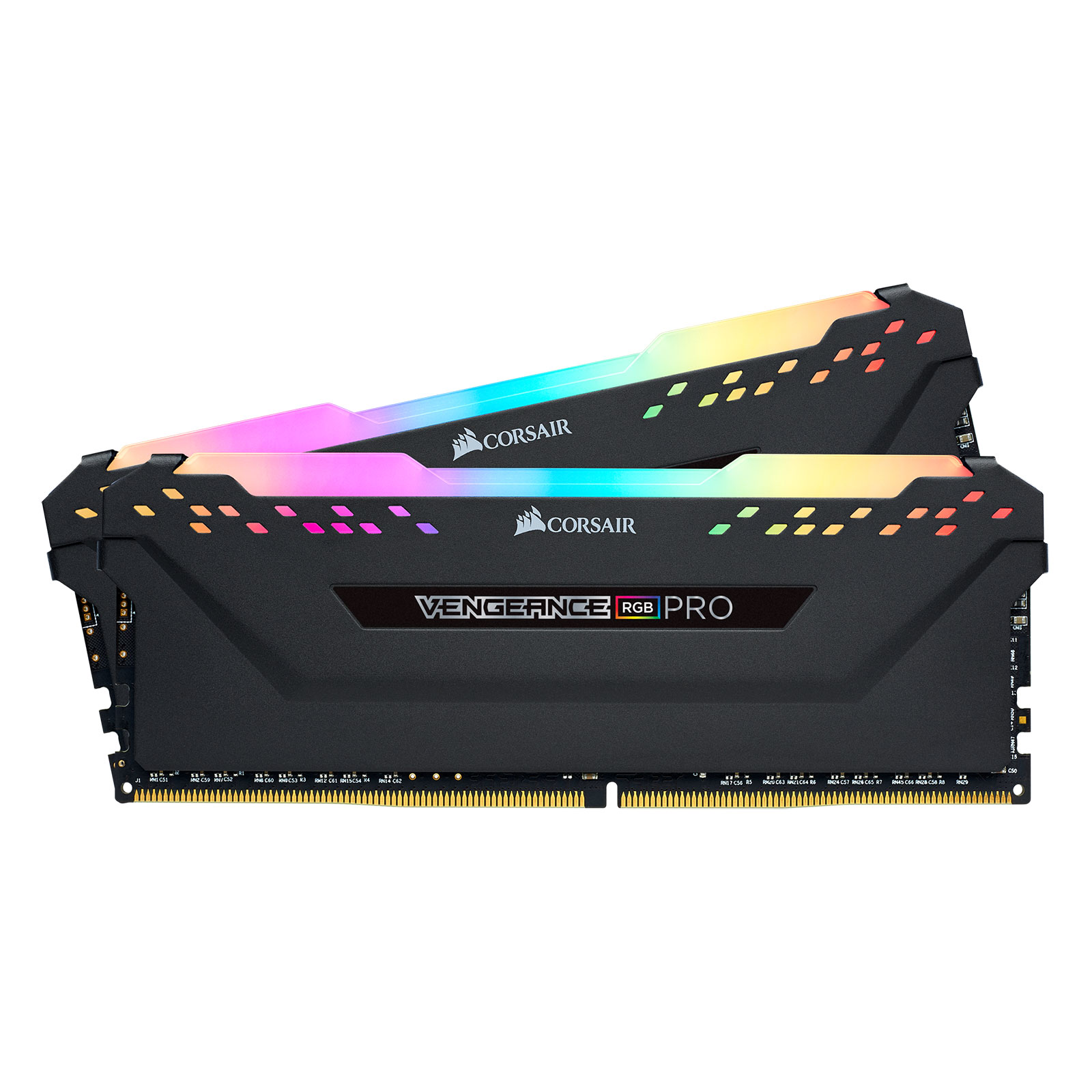 Corsair Vengeance RGB PRO Black Heat Spreader  16Go DDR4 3000MHz PC24000 - Mémoire PC Corsair sur Cybertek.fr - 3