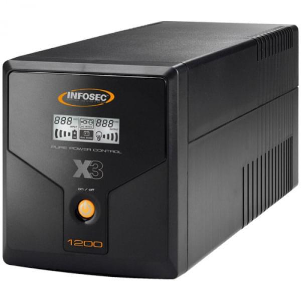 Infosec X3 EX LCD USB-1200 (65969) - Achat / Vente Onduleur - Multiprises sur Cybertek.fr - 0
