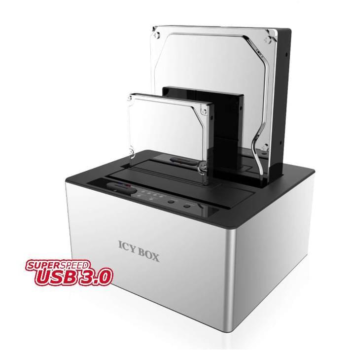 Icy Box Station d'accueil USB3.0 pour DD SATA - Boîtier externe - 0
