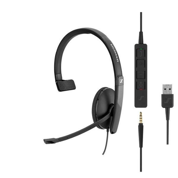 Sennheiser SC 135 USB/Jack Mono Noir - Micro-casque - Cybertek.fr - 0