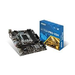 image produit MSI H170M PRO-VDH - H170/LGA1151/DDR4/mATX Cybertek