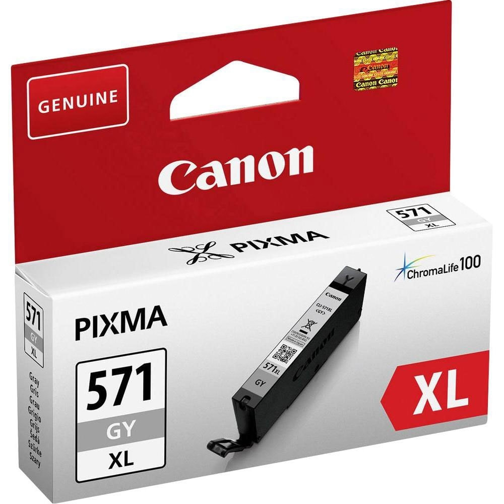 Cartouche Gris à rendement élevé - CLI-571GY XL pour imprimante  Canon - 0