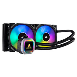 image produit Corsair H100i RGB Platinum - 240mm (2x120) CW-9060039-WW Cybertek