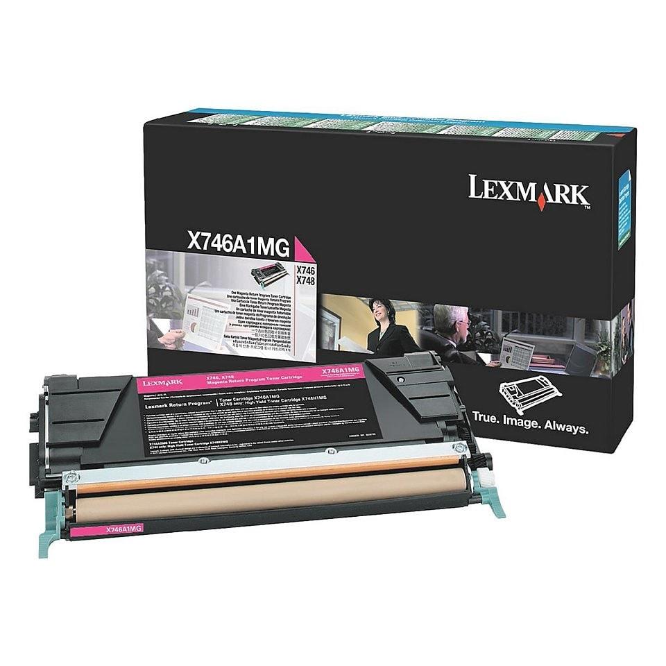 Toner Magenta 7000p. - X746A1MG pour imprimante Laser Lexmark - 0