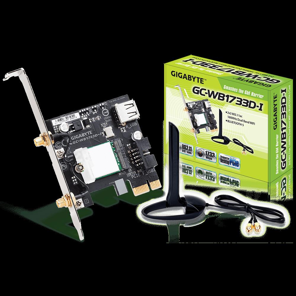 Gigabyte PCI-E BT5/WiFi AC - GC-WB1733D-I - Carte réseau Gigabyte - 0