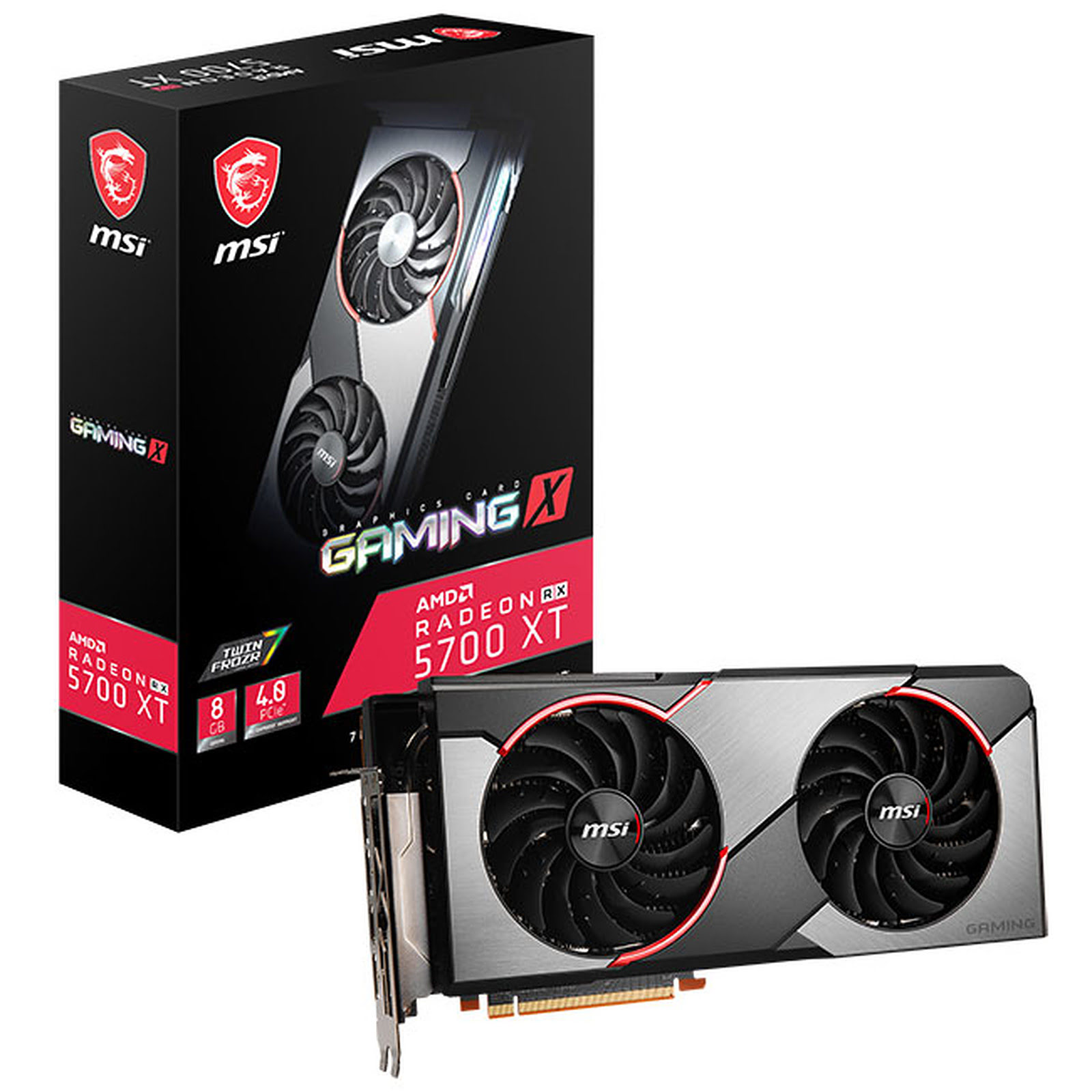 MSI RX 5700 XT GAMING X 8Go - Carte graphique MSI - Cybertek.fr - 0