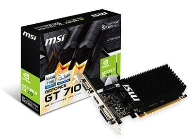 MSI GT 710 2GD3H LP (GT 710 2GD3H LP) - Achat / Vente Carte Graphique sur Cybertek.fr - 0