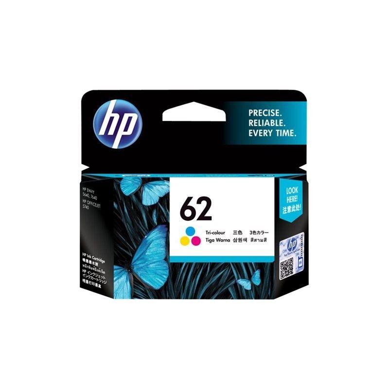 Cartouche N° 62 Tricolore - C2P06AE pour imprimante Jet d'encre HP - 0