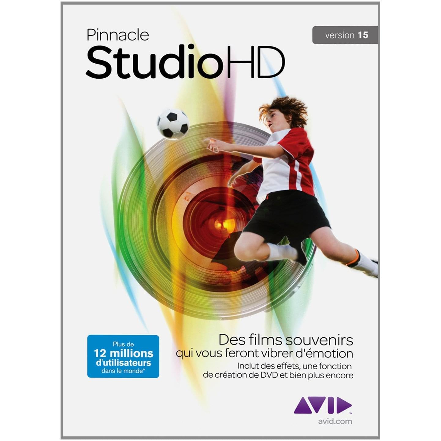 Pinnacle Studio HD 15 (8202-30048-01) - Achat / Vente Logiciel Application sur Cybertek.fr - 0