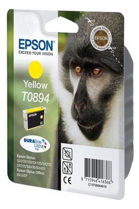 Cartouche T0894 Jaune pour imprimante Jet d'encre Epson - 0