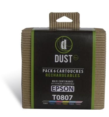 Cartouche rechargeable DUST Eco Pack 6 cart. rechargeables T0807