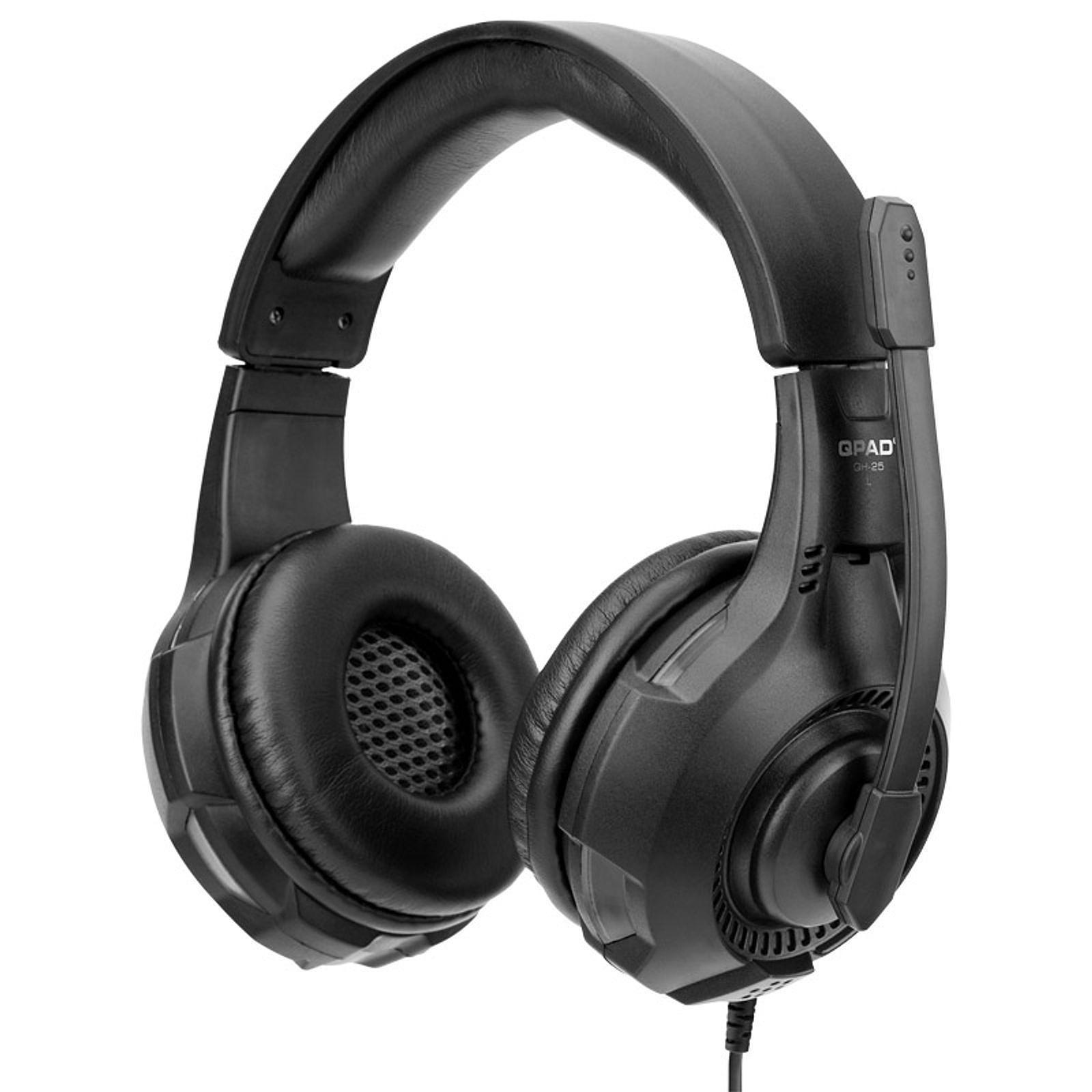 QPAD QH-25 True 7.1 Noir - Micro-casque - Cybertek.fr - 2