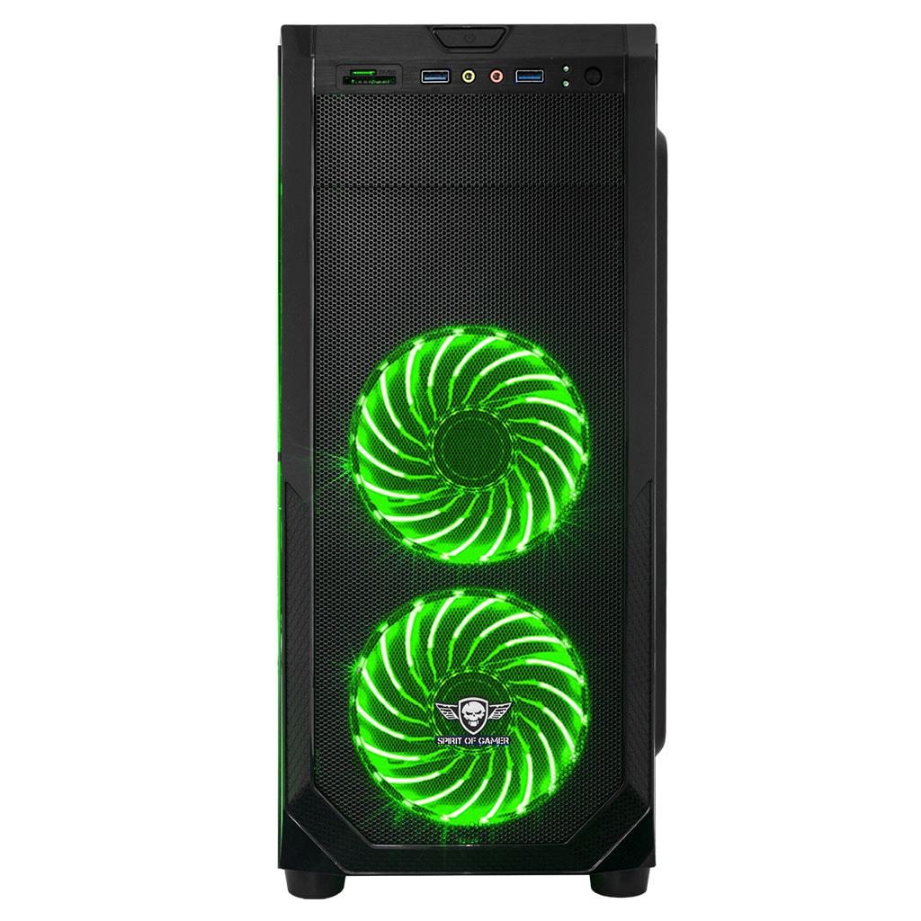 S.O.G ROGUE I GREEN Noir - Boîtier PC S.O.G - Cybertek.fr - 4