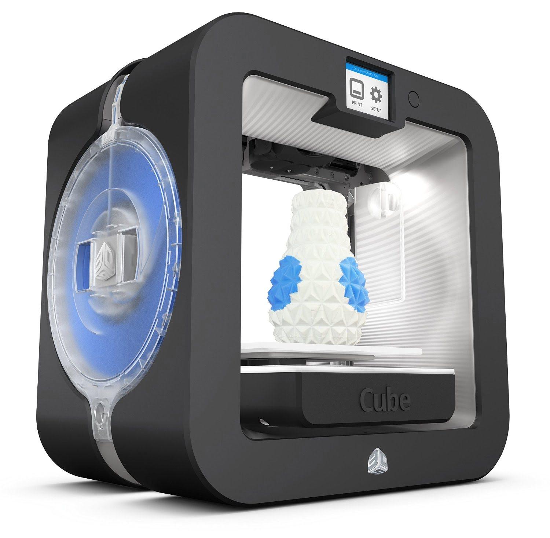 Imprimante 3D Systems CUBE 3 Grise (Imprimante 3D 15x15x15) - 1
