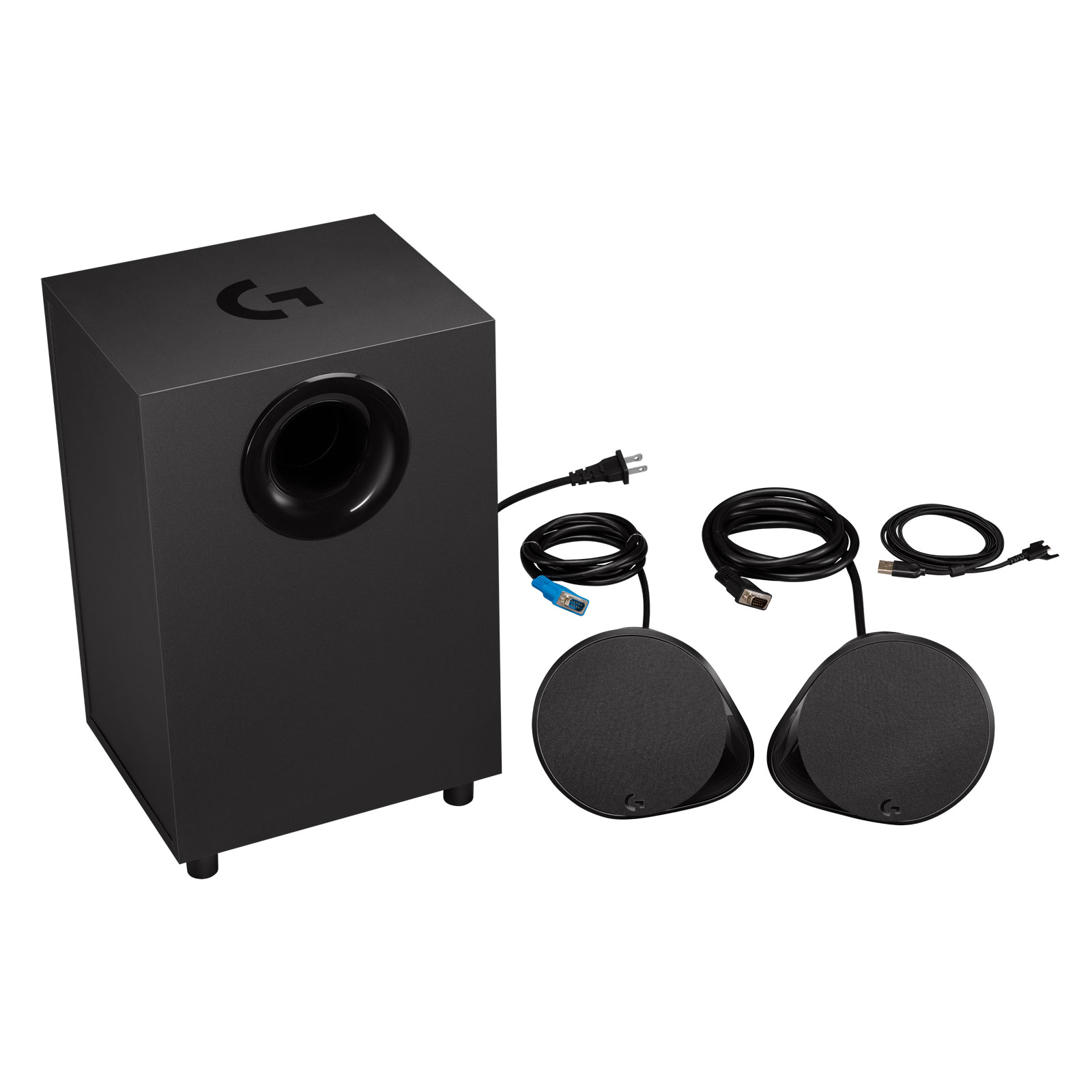 Logitech 2HP+Caisson  G560 LightSync Gaming Speakers - Enceinte PC Logitech - 2
