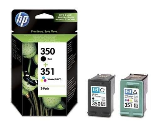 Pack Cartouches Noire + Couleur 350/351 - SD412EE pour imprimante Jet d'encre HP - 0
