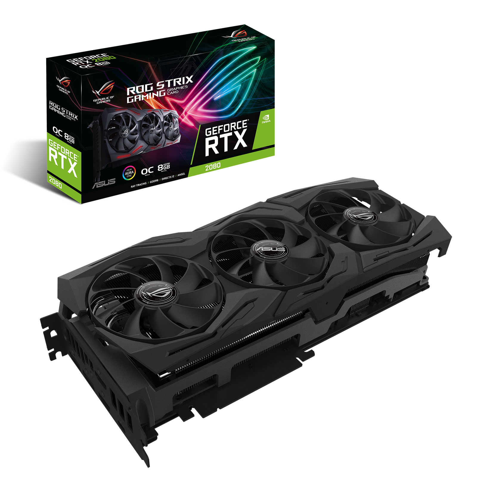 Asus GeForce ROG STRIX-RTX2080-O8G-GAMING (90YV0C60-M0NM00) - Achat / Vente Carte graphique sur Cybertek.fr - 0