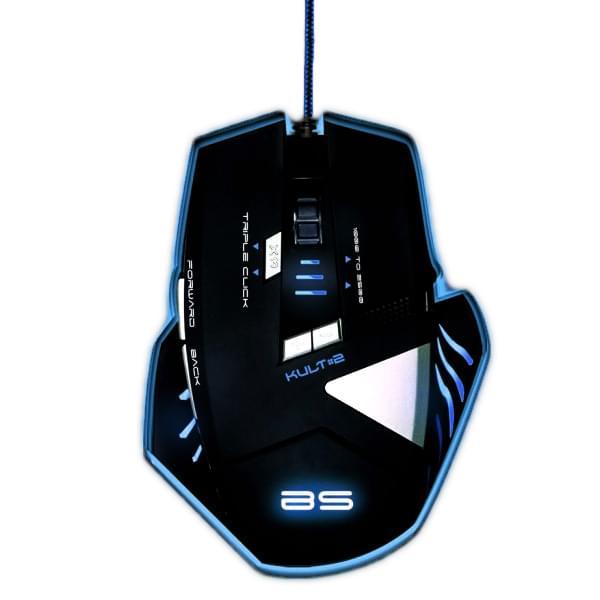 Souris PC Gamer Bluestork KULT 2 - Gaming/2500dpi/Retroeclairé/8 boutons - 0
