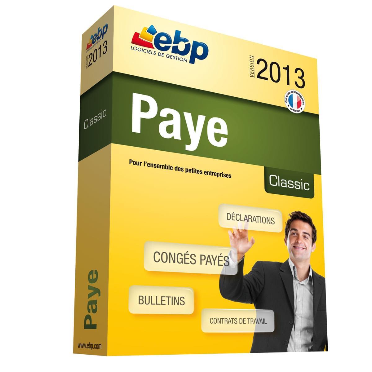 EBP Paye Classic 2013 (1025J050FAA) - Achat / Vente Logiciel application sur Cybertek.fr - 0