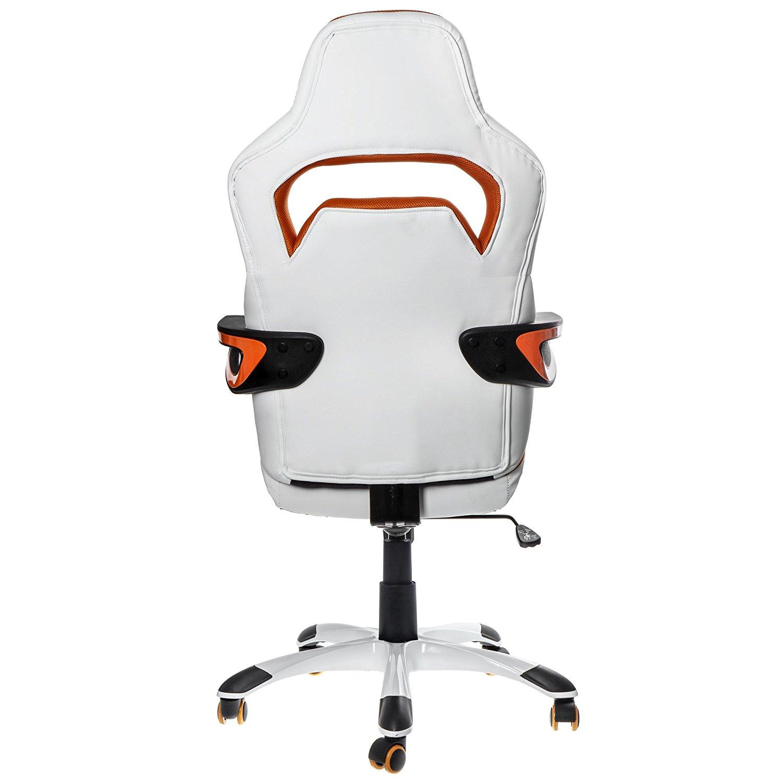 Nitro Concepts E220 Evo Blanc/Orange - Siège PC Gamer - 3