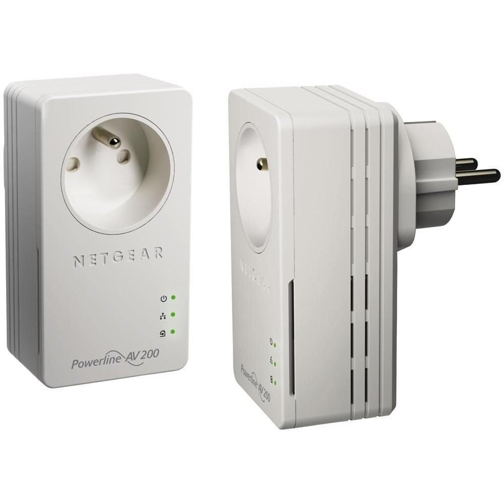 Netgear XAVB1601 (200Mb) avec prise (XAVB1601-100FRS) - Achat / Vente Adaptateur CPL sur Cybertek.fr - 0