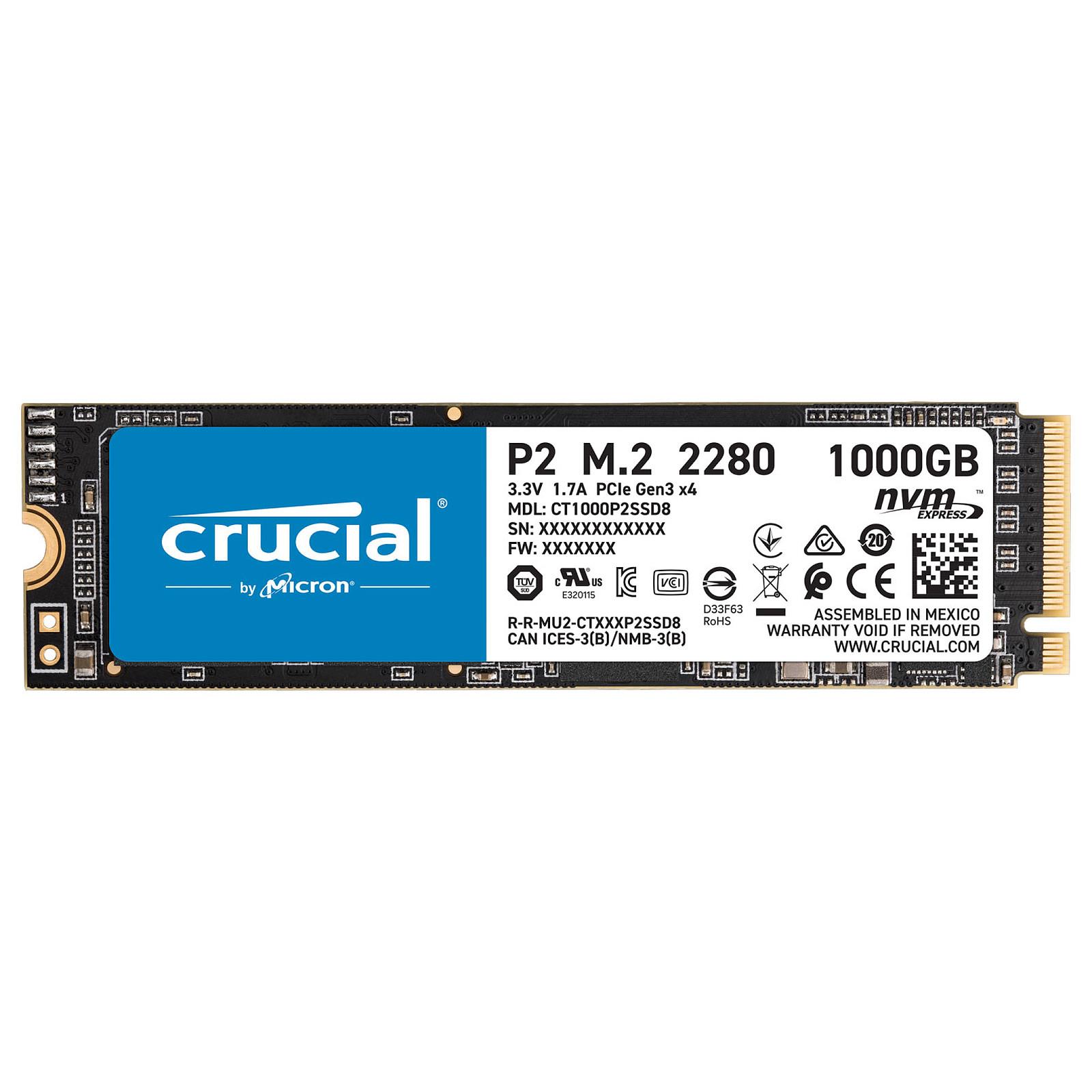Crucial P2 960Go-1To M.2 - Disque SSD Crucial - Cybertek.fr - 0