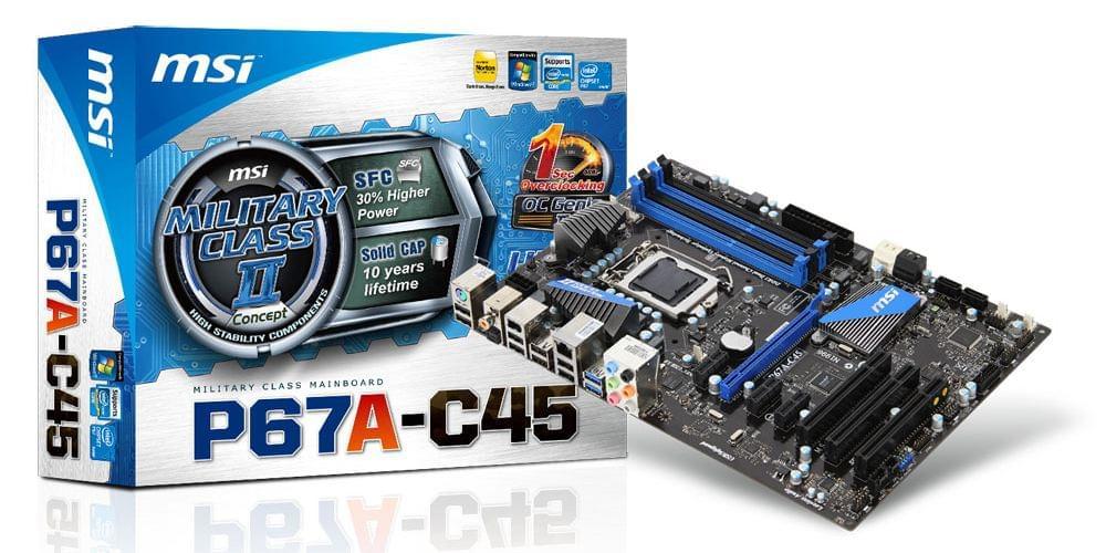 MSI P67A-C45(B3) (911-7673-035) - Achat / Vente Carte Mère sur Cybertek.fr - 0