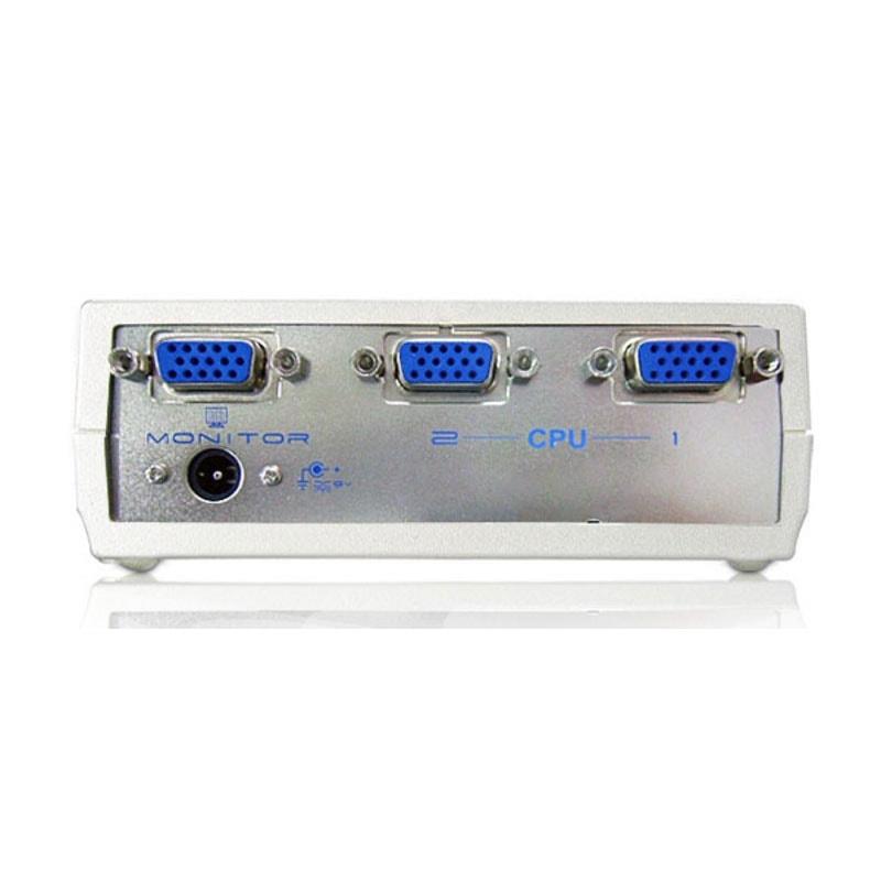 Aten KVM Commutateur 2 ports VGA+Audio+RS232 (VS0201) - Achat / Vente Commutateur et Splitter sur Cybertek.fr - 1