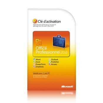 Microsoft Office Professionnel 2010 COEM - Logiciel suite bureautique - 0