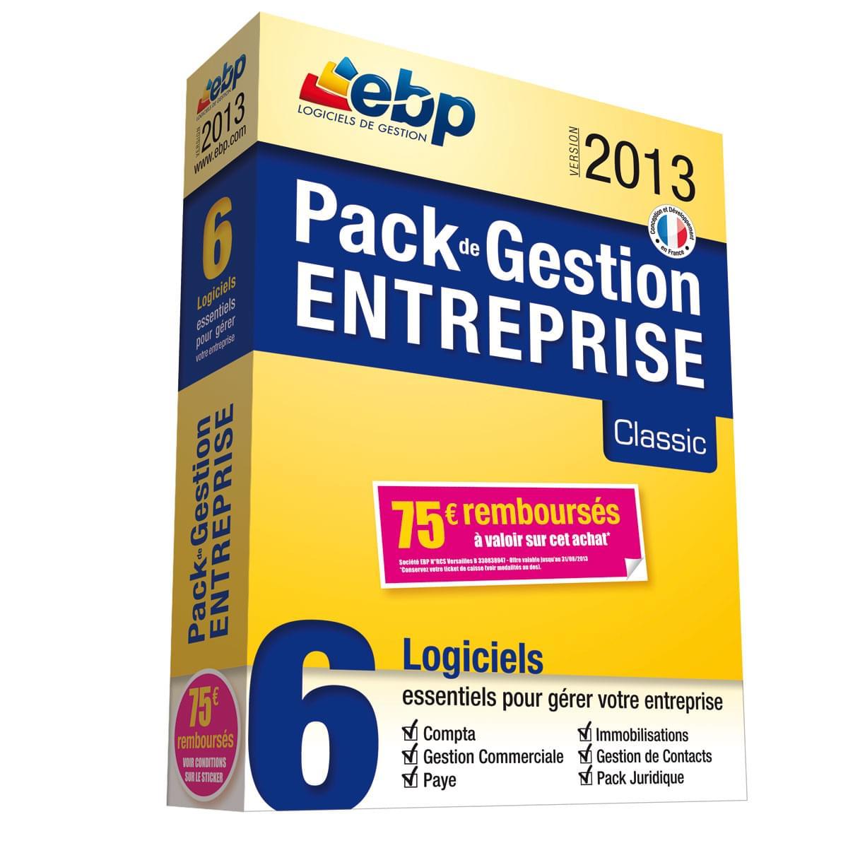 EBP Pack de Gestion Entreprise Classic 2013 + ODR 75€ - Logiciel application - 0