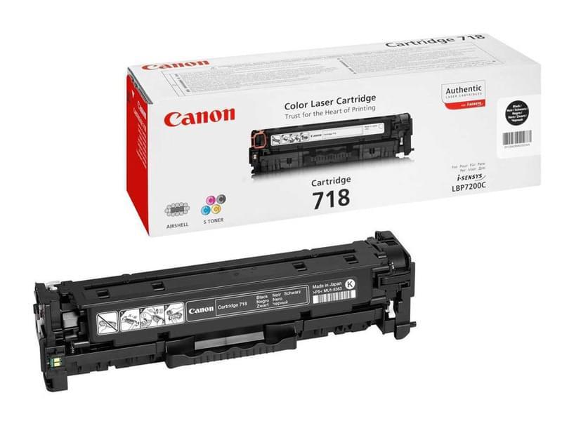 Toner 718 Black 3500p - 2662B002 pour imprimante Laser Canon - 0