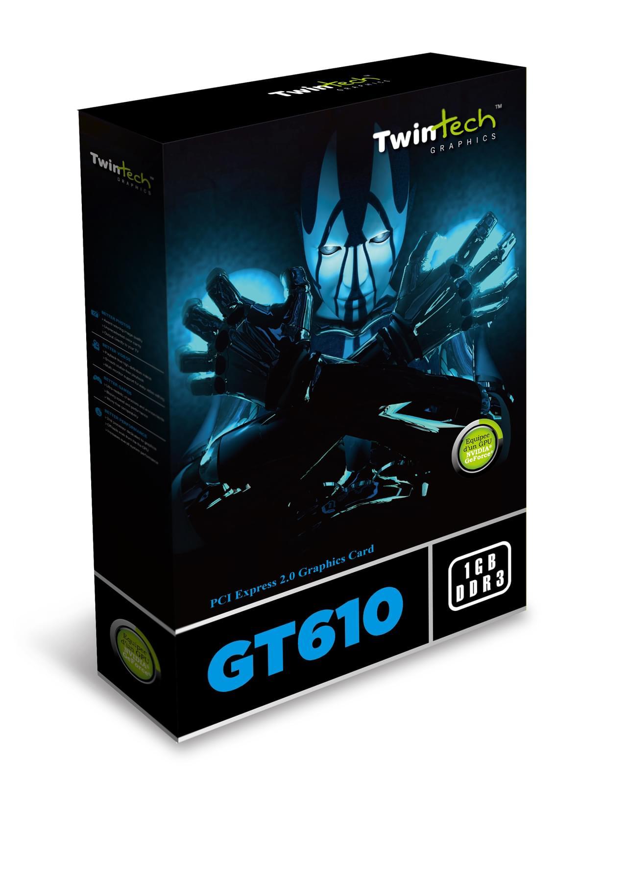 Twintech GF GT 610 (TT-GT610-2GD3D-HDM) - Achat / Vente Carte Graphique sur Cybertek.fr - 0