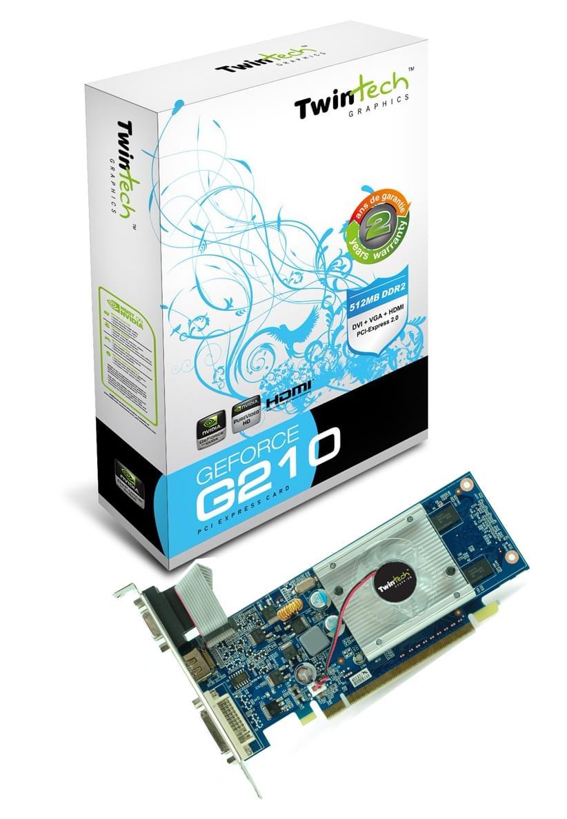 Twintech GF G210 (92955-29H) - Achat / Vente Carte Graphique sur Cybertek.fr - 0