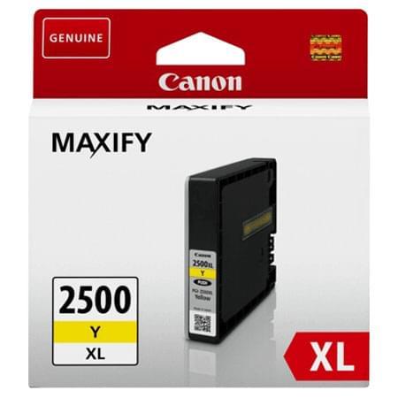 Cartouche PGI-2500XL Jaune - 9267B001 pour imprimante Jet d'encre Canon - 0