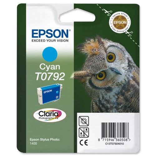 Epson Cartouche Cyan T0792 (C13T07924010) - Achat / Vente Consommable Imprimante sur Cybertek.fr - 0