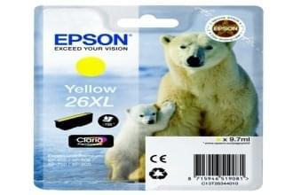Epson Cartouche d'encre Jaune 26XL (C13T26344010) - Achat / Vente Consommable Imprimante sur Cybertek.fr - 0