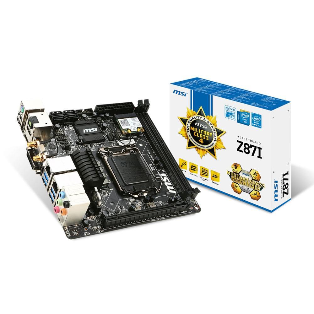 MSI Z87-I (Z87-I) - Achat / Vente Carte Mère sur Cybertek.fr - 0